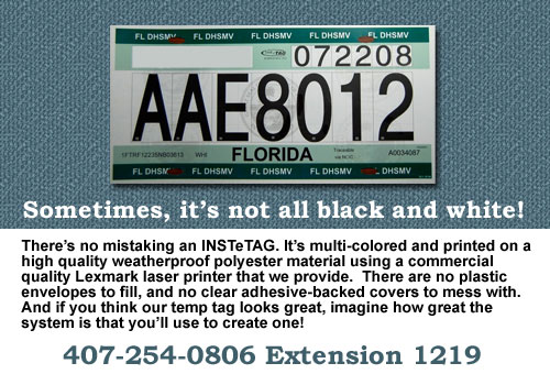 Florida Temporary Tag >> Instetag